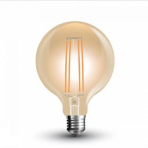 Λάμπα LED E27 G95 Filament 7W Θερμό λευκό 2200K Γυαλί amber