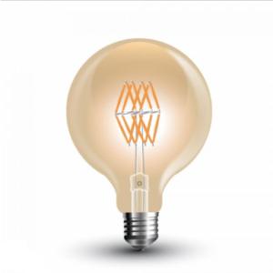 Λάμπα LED E27 G95 Filament 8W Θερμό λευκό 2200K Γυαλί amber
