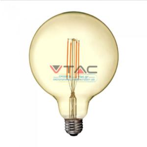 Λάμπα LED E27 G125 Filament 12.5W Θερμό λευκό 2200K Amber cover