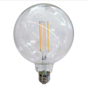 Λάμπα LED E27 G125 Filament 12.5W Θερμό λευκό 3000K Διάφανο