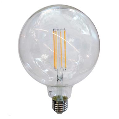 Λάμπα LED E27 G125 Filament 12.5W Λευκό 6400K Διάφανο