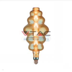 Λάμπα LED E27 Special Filament S180 8W Θερμό λευκό 2200K Amber cover