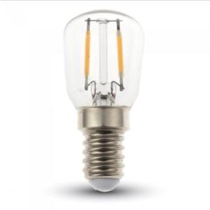 Λάμπα LED E14 ST26 Filament 2W Θερμό λευκό 3000K Γυαλί διάφανο