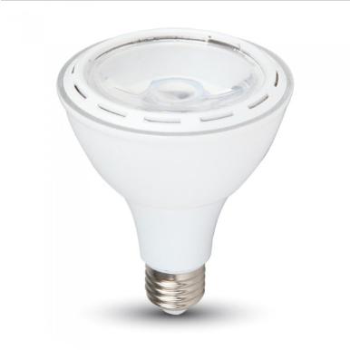 Λάμπα LED E27 PAR30 SMD 12W Λευκό 6000K Λευκό σώμα