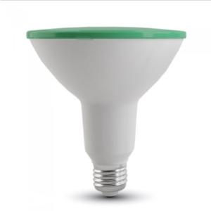 Λάμπα LED E27 PAR38 SMD 15W Πράσινο Λευκό σώμα