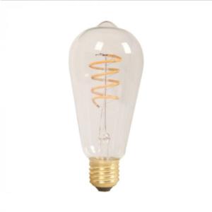 Λάμπα LED E27 ST60 Filament 4W Θερμό λευκό 2700K Γυαλί amber