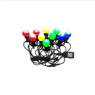 Αδιάβροχο φωτιστικό γιρλάντα 10m με 20 λάμπες RGB+Κίτρινο 24V