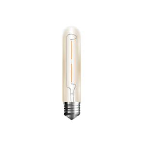 Λάμπα LED E27 T30 Filament 2W Θερμό λευκό 2700K Γυαλί amber