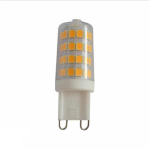 Λάμπα LED Spot G9 SMD 3W θερμό λευκό 3000K διάφανο σώμα 6 τεμάχια