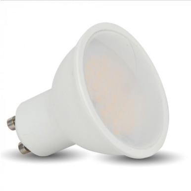 Λάμπα LED Spot GU10 SMD 6W θερμό λευκό 3000K λευκό σώμα