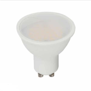 Λάμπα LED Spot GU10 SMD 3.5W RGB + θερμό λευκό 3000K (rf control), λευκό σώμα, 110° μοιρών, ντιμάρεται