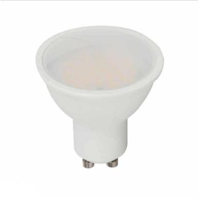 Λάμπα LED Spot GU10 SMD 3.5W RGB + φυσικό λευκό 4000K (RF CONTROL), λευκό σώμα, 110° μοιρών, ντιμάρεται