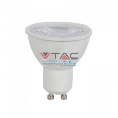 Λάμπα LED Spot GU10 SMD 6W θερμό λευκό 3000K λευκό σώμα 38° CRI>95