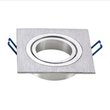 Χωνευτό φωτιστικό spot GU10 τετράγωνο αλουμίνιο βουρτσιμένο σώμα