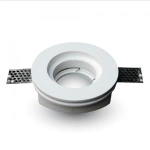 Γύψινο χωνευτό φωτιστικό spot GU10 στρογγυλό λευκό σώμα