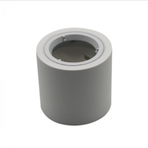 Γύψινο εξωτερικό φωτιστικό spot GU10 στρογγυλό λευκό σώμα