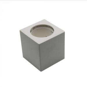 Γύψινο εξωτερικό φωτιστικό spot GU10 τετράγωνο λευκό σώμα