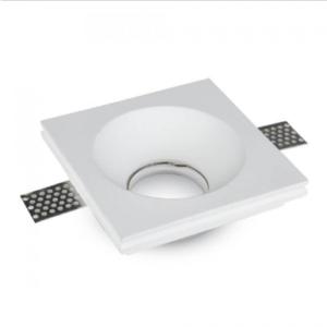 Γύψινο χωνευτό φωτιστικό spot GU10 τετράγωνο λευκό σώμα