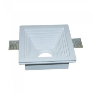 Γύψινο χωνευτό φωτιστικό spot GU10 τετράγωνο βαθύ κλιμακωτό λευκό σώμα