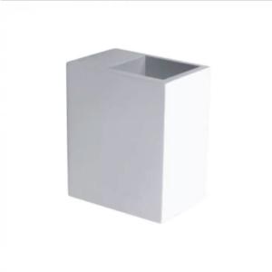 Επιτοίχιο φωτιστικό spot G9 τετράγωνο γύψινο λευκό