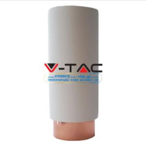 Επιφανειακό φωτιστικό spot GU10 γύψινο στρογγυλό με λευκό & χάλκινο σώμα