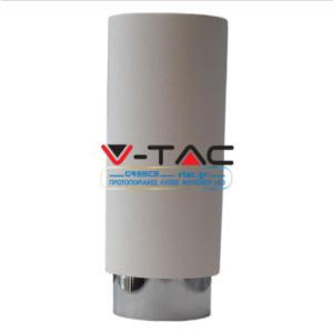 Επιφανειακό φωτιστικό spot GU10 γύψινο στρογγυλό με λευκό & χρώμιο σώμα