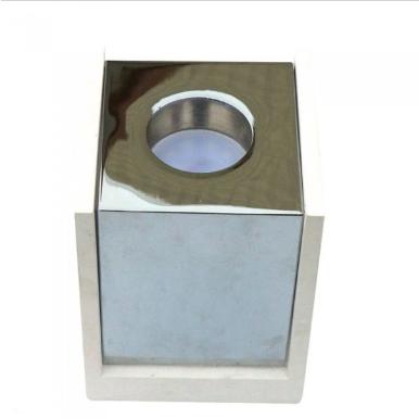 Επιφανειακό φωτιστικό Spot GU10 Γύψινο Τετράγωνο με λευκό & χρώμιο σώμα