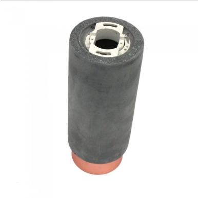 Επιφανειακό φωτιστικό Spot GU10 Τσιμέντο/Γύψινο Στρογγυλό με γκρι & ροζ χαλκό σώμα