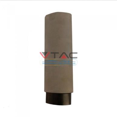 Κρεμαστό φωτιστικό Spot GU10 γύψινο στρογγυλό με γκρι & μαύρο σώμα