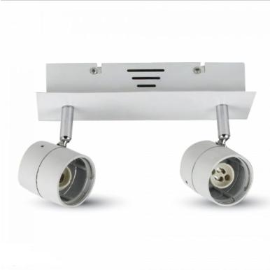 Φωτιστικό spot ράγας 2xGU10 λευκό σώμα