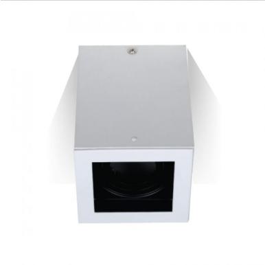 Χωνευτό φωτιστικό spot GU10 τετράγωνο λευκό σώμα