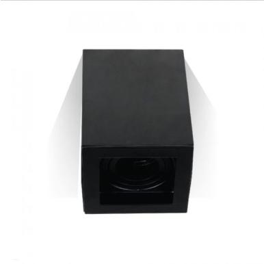 Χωνευτό φωτιστικό spot GU10 τετράγωνο μαύρο σώμα