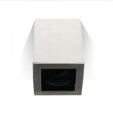 Χωνευτό φωτιστικό spot GU10 τετράγωνο satin nickel σώμα