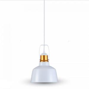 Μονόφωτο κρεμαστό φωτιστικό Αλουμίνιο με Λευκό σώμα