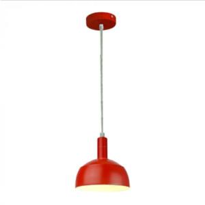 Μονόφωτο κρεμαστό φωτιστικό Πλαστικό & αλουμίνιο με Κόκκινο σώμα