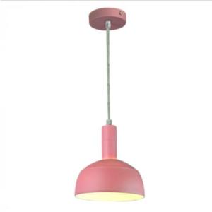 Μονόφωτο κρεμαστό φωτιστικό Πλαστικό & αλουμίνιο με Ροζ σώμα