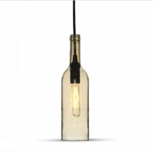 Μονόφωτο κρεμαστό φωτιστικό με σχήμα μπουκαλιού Γυαλί με Amber σώμα