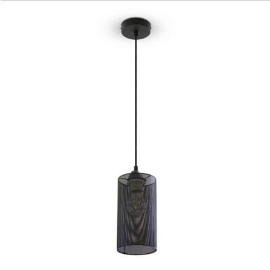 Μονόφωτο κρεμαστό φωτιστικό Μέταλλο με Matt Μαύρο σώμα