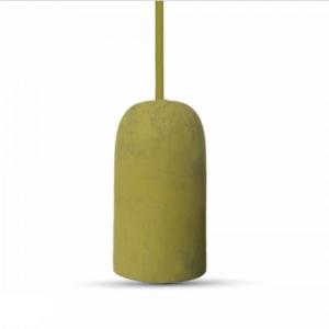 Μονόφωτο κρεμαστό φωτιστικό Τσιμέντο με Κίτρινο σώμα