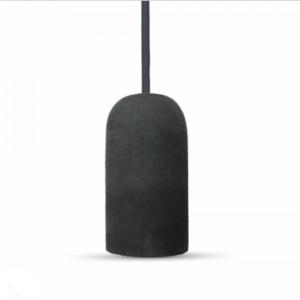 Μονόφωτο κρεμαστό φωτιστικό Τσιμέντο με Μαύρο σώμα