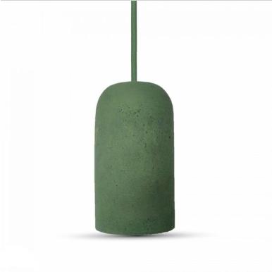 Μονόφωτο κρεμαστό φωτιστικό Τσιμέντο με Πράσινο σώμα