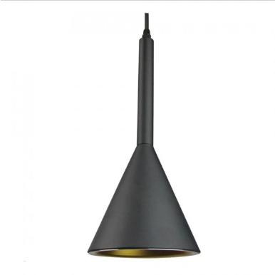 Μονόφωτο κρεμαστό φωτιστικό Αλουμίνιο με Μαύρο σώμα