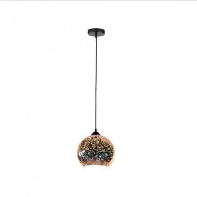 Μονόφωτο κρεμαστό φωτιστικό Γυαλί με 3D γυαλί σώμα Ø150