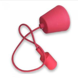 Μονόφωτο κρεμαστό φωτιστικό Σιλικόνη με Κόκκινο σώμα