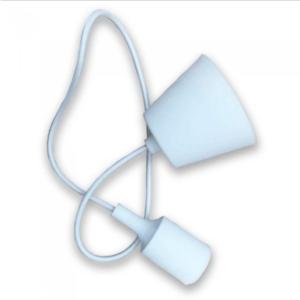 Μονόφωτο κρεμαστό φωτιστικό Σιλικόνη με Λευκό σώμα