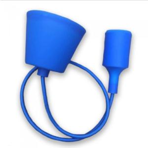 Μονόφωτο κρεμαστό φωτιστικό Σιλικόνη με Μπλε σώμα