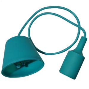 Μονόφωτο κρεμαστό φωτιστικό Σιλικόνη με Πράσινο σώμα