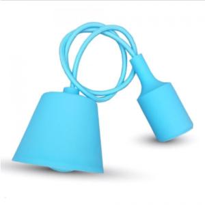 Μονόφωτο κρεμαστό φωτιστικό Σιλικόνη με Light Μπλε σώμα