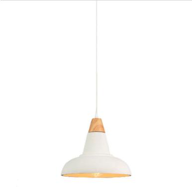 Μονόφωτο κρεμαστό φωτιστικό Τσιμέντο & ξύλο με Λευκό + Wood σώμα