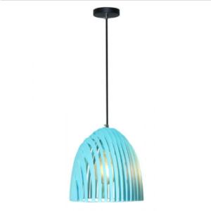 Μονόφωτο κρεμαστό φωτιστικό Cone Prism με γαλάζιο σώμα